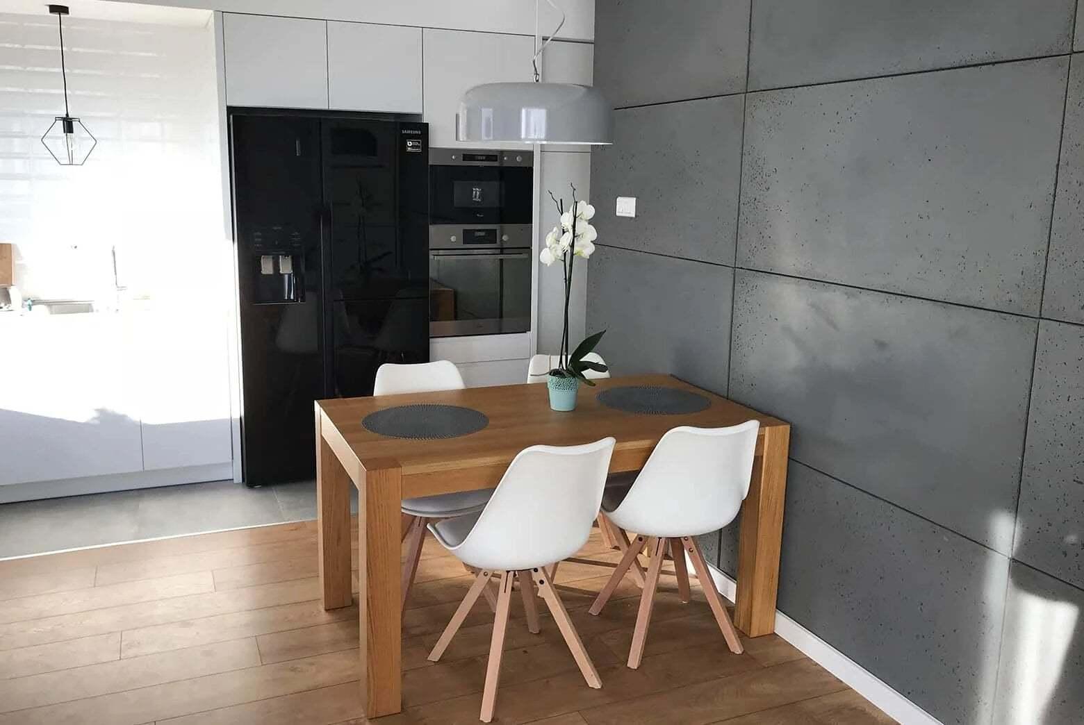 płyty betonowe w kuchni