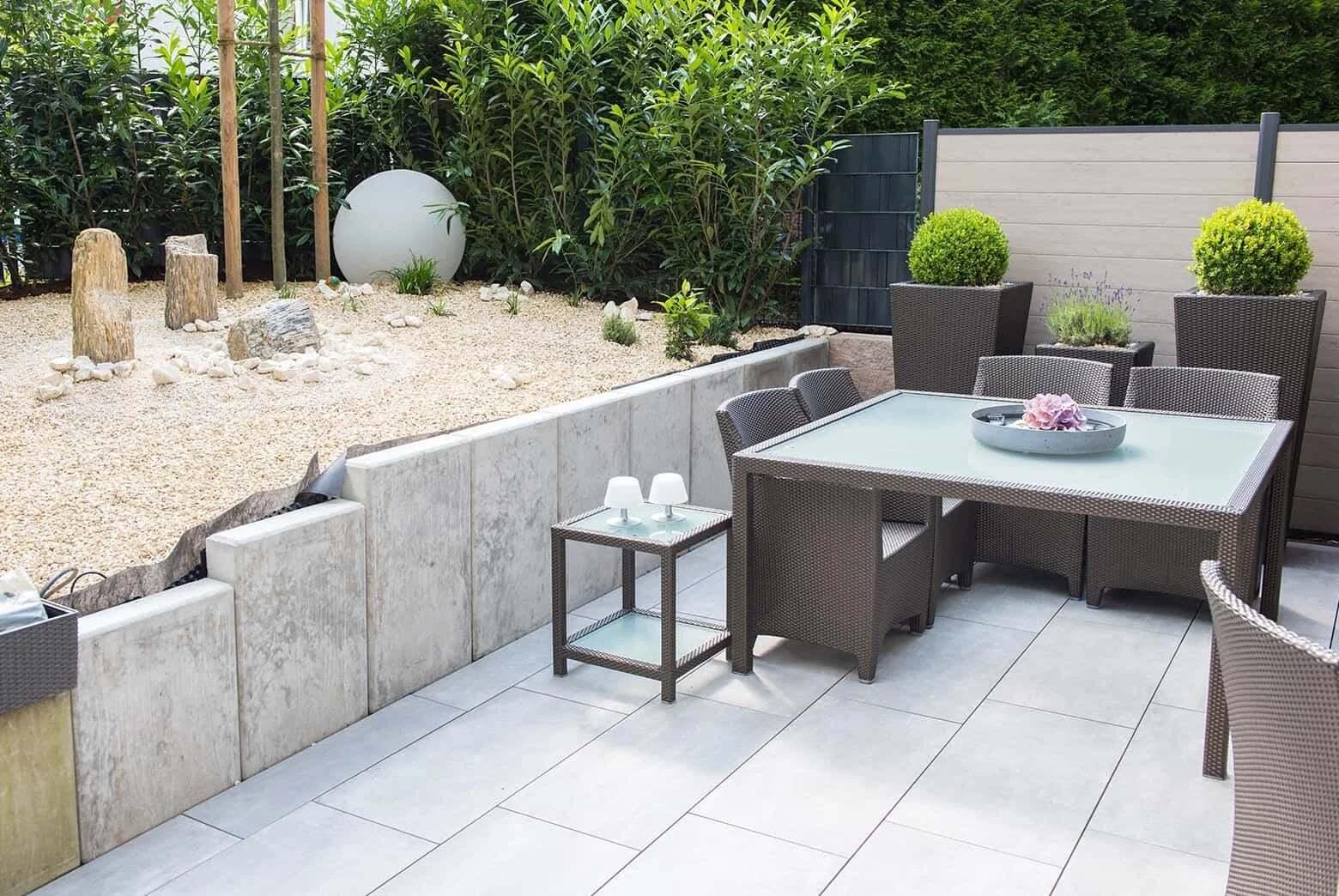 patio z betonu architektonicznego