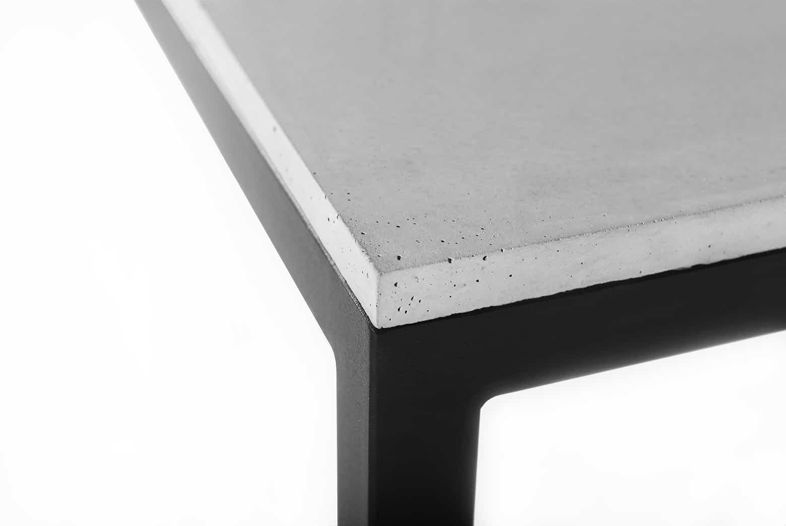 Struktura gładka mebli betonowych