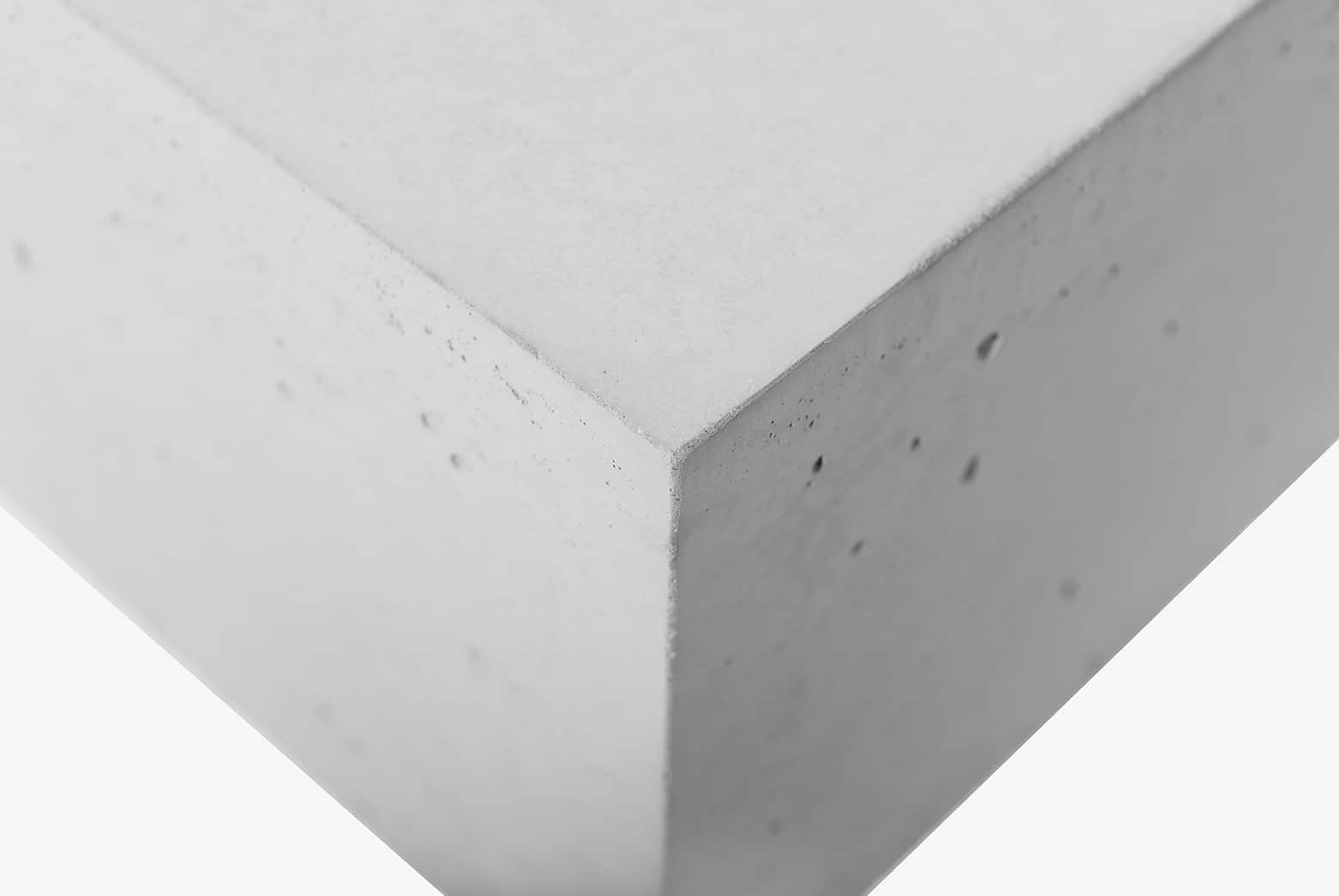Struktura betonu w meblach betonowych