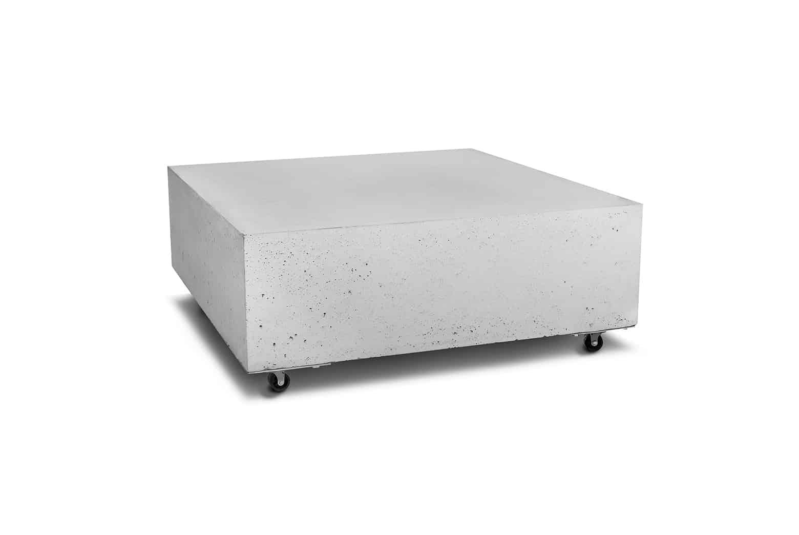 Stolik kawowy z betonu mobilny