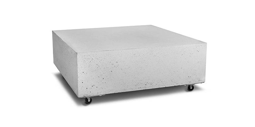 Stolik betonowy na kółkach