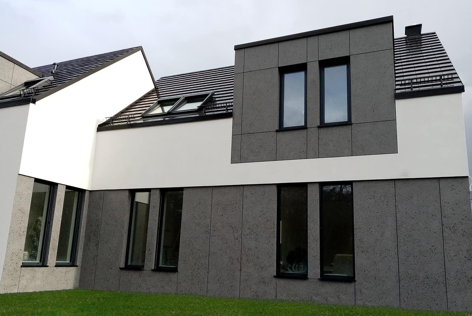 Betonowe płyty elewacyjne na domu