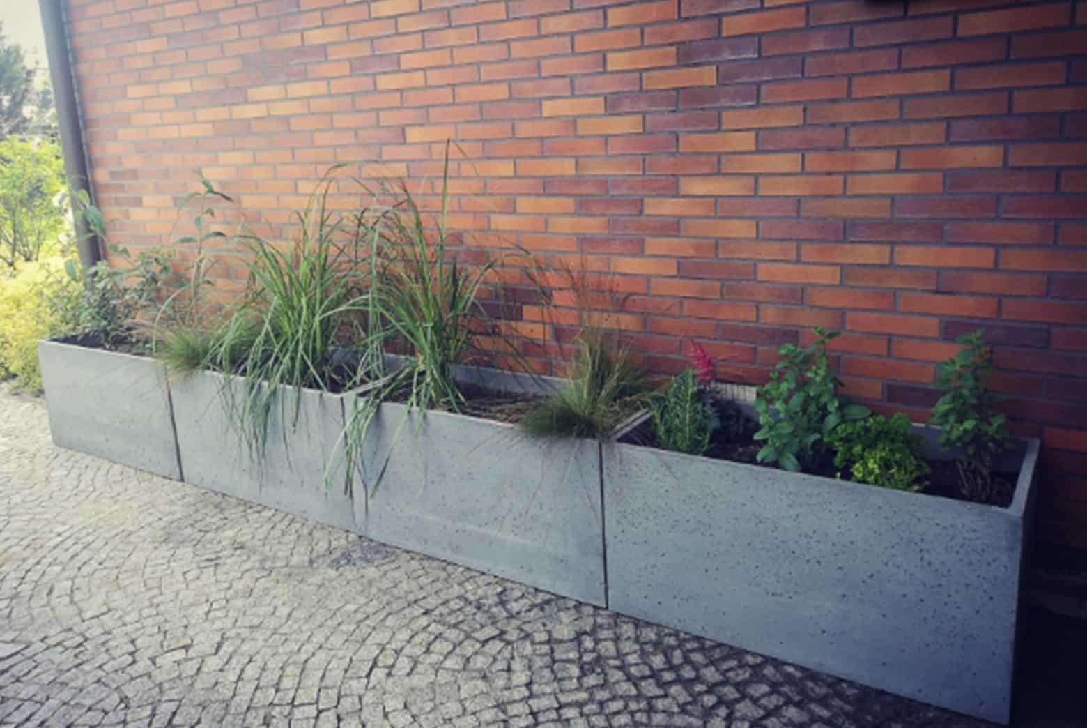 Donice betonowe podłużne