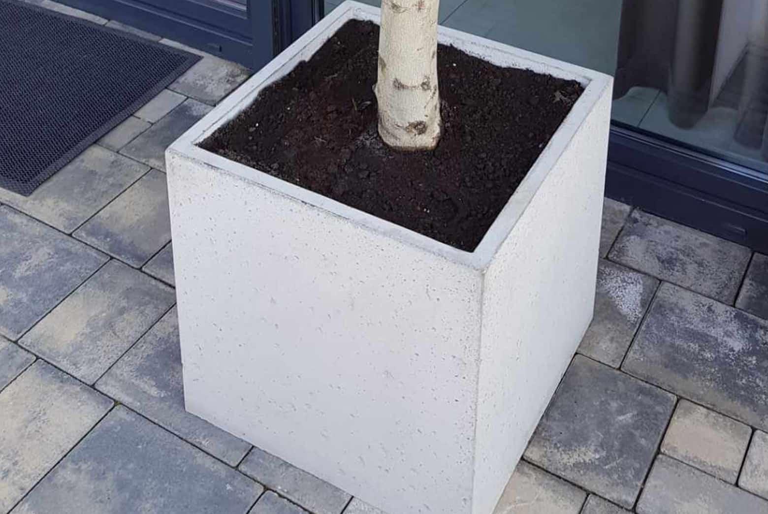 Donice betonowe przed wejściem